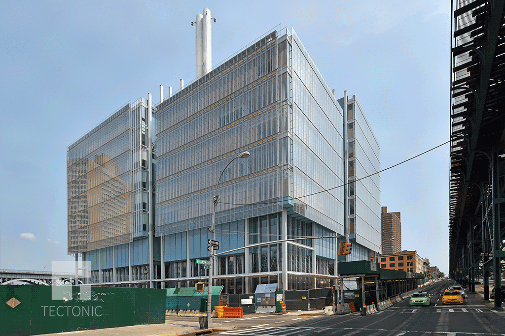 Jerome L. Greene Science Center from Broadway looking north