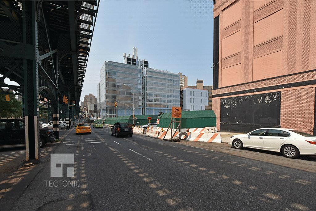 View southwest along Broadway
