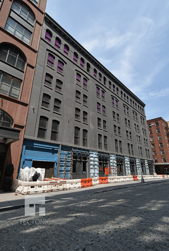 Greenwich Street side from the south