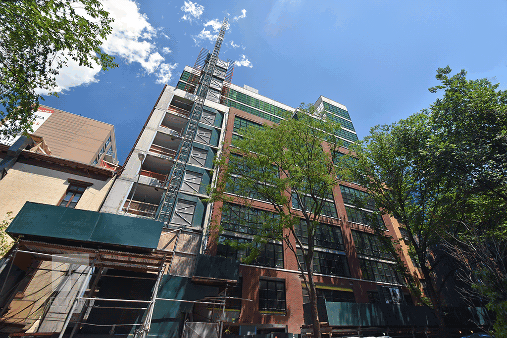 Looking up from West 25th Street