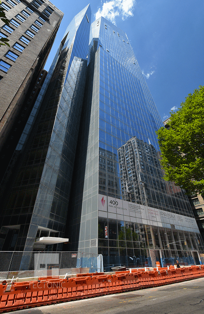Looking up from Park Avenue South