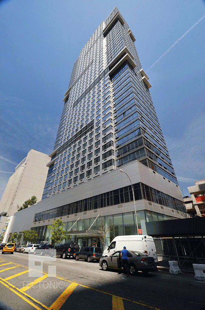 Looking up from West 57th Street
