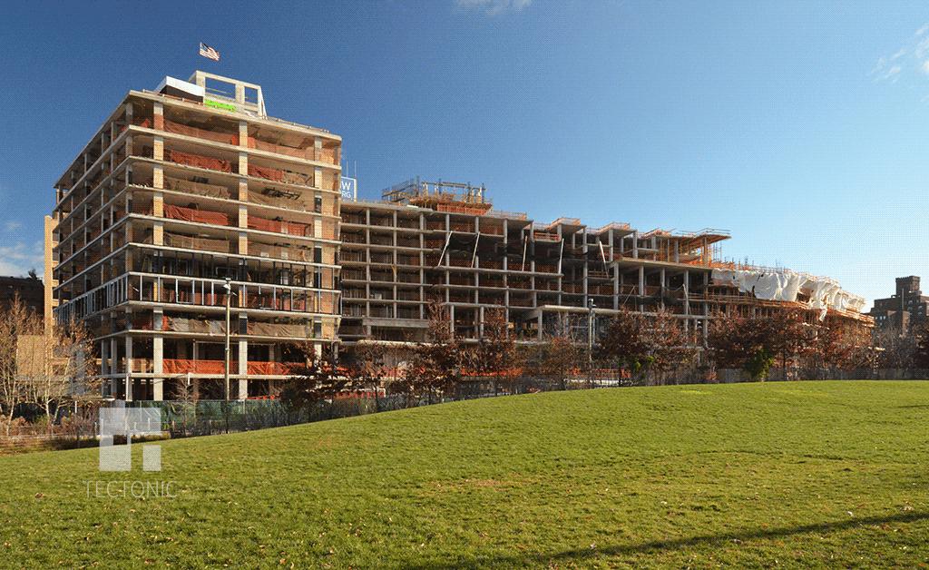 Hotel & condos under construction in December 2014