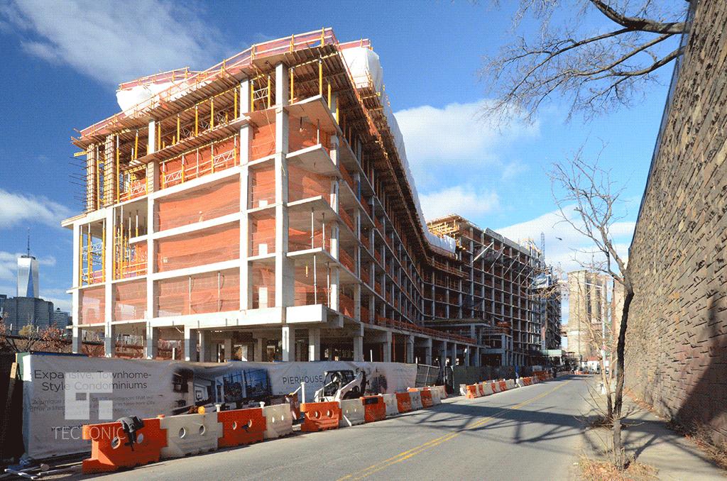 Viewed along Furman Street in December 2014