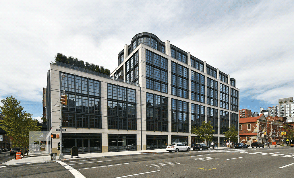 Viewed from the south along 10th Avenue