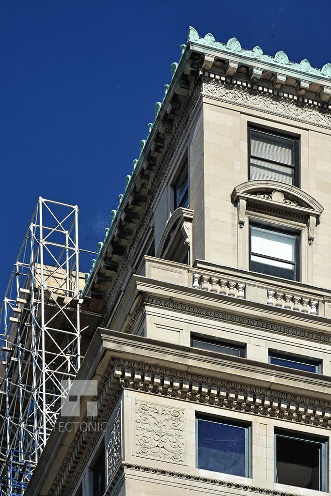 Facade details of 88 Lexington