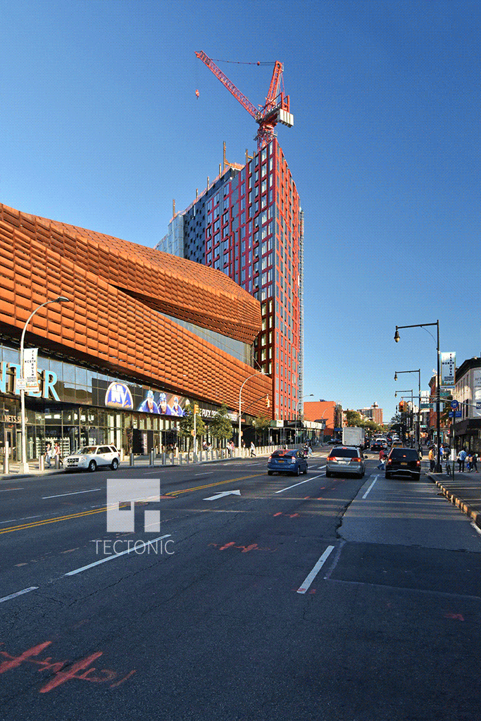 Looking southward along Flatbush Avenue