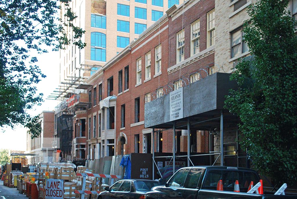 Townhouses along Bethune Street