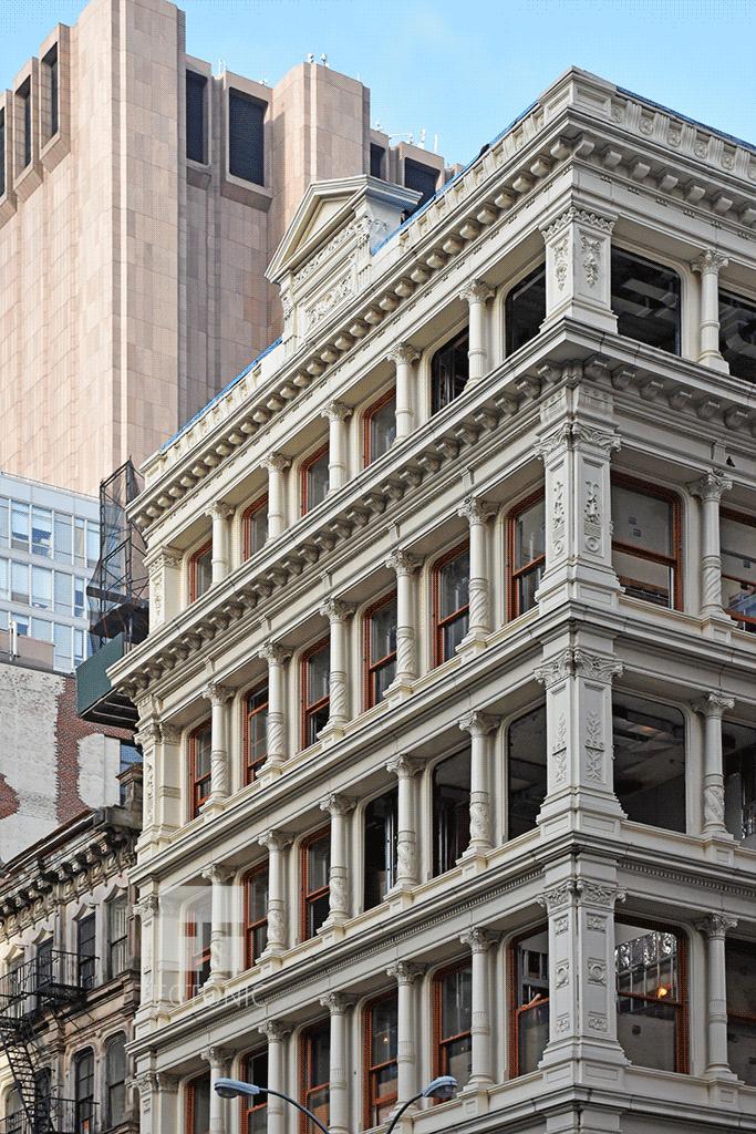 Upper floors along Broadway