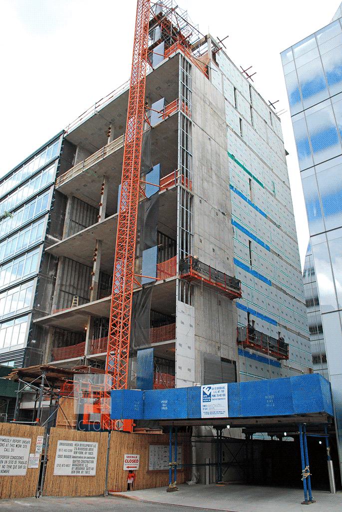 Under construction in 2009