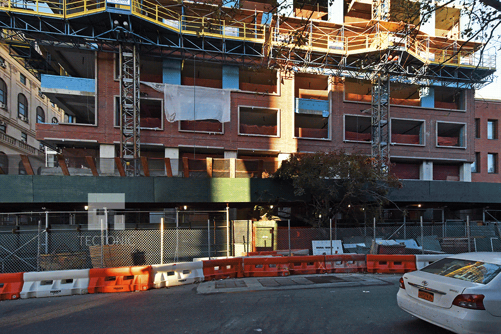 Brick facade along State Street