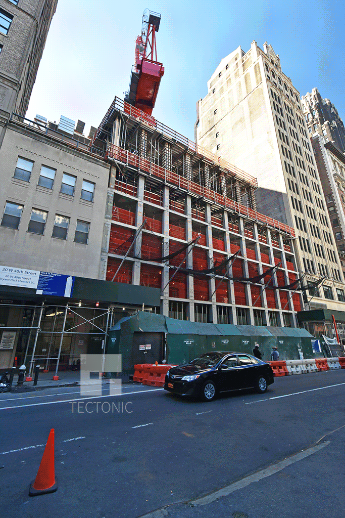 Viewed from the east along West 40th Street