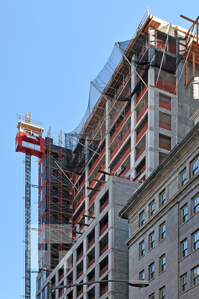 Upper floors viewed from Hudson Street