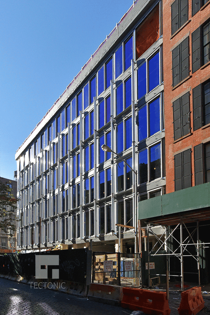 Viewed from the east along Crosby Street