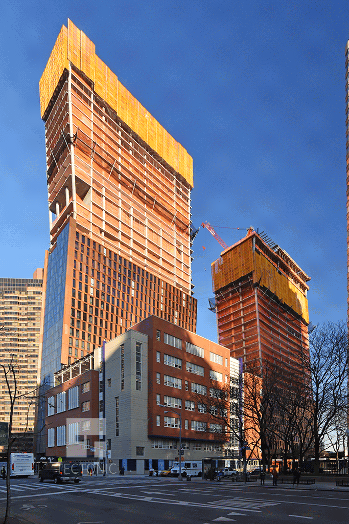 Towers viewed from the west