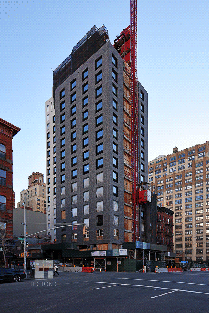 Viewed from the north along 10th Avenue