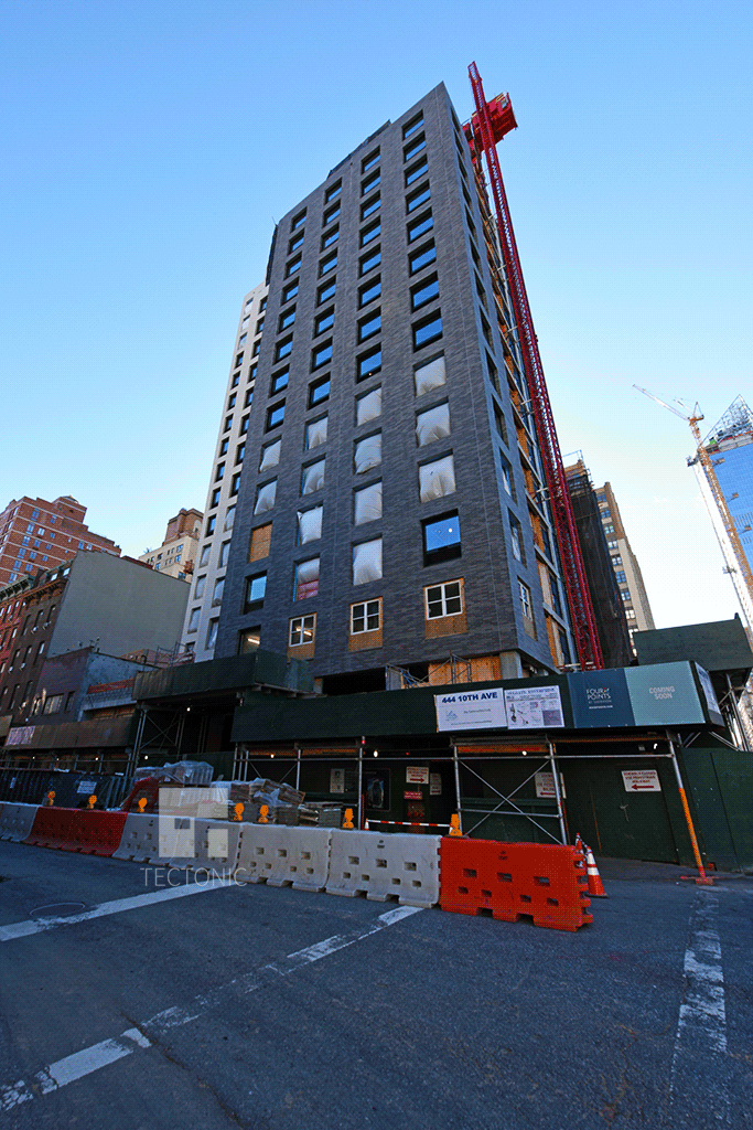 Looking up the northwestern corner at 10th Avenue and West 35th Street