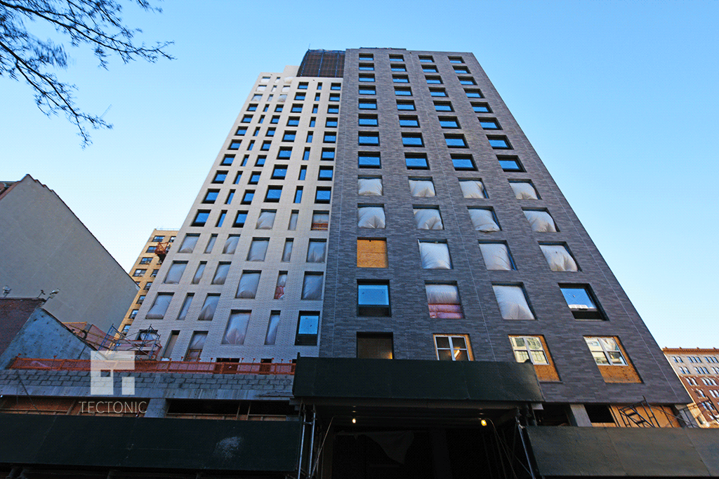 Looking up from West 35th Street