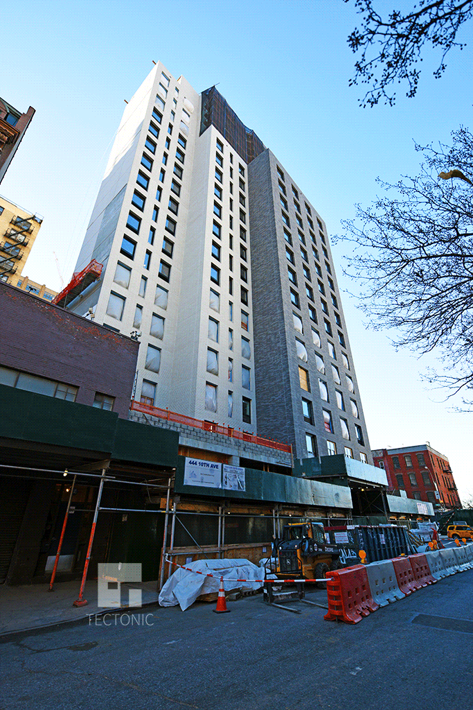 Viewed from the east along West 35th Street