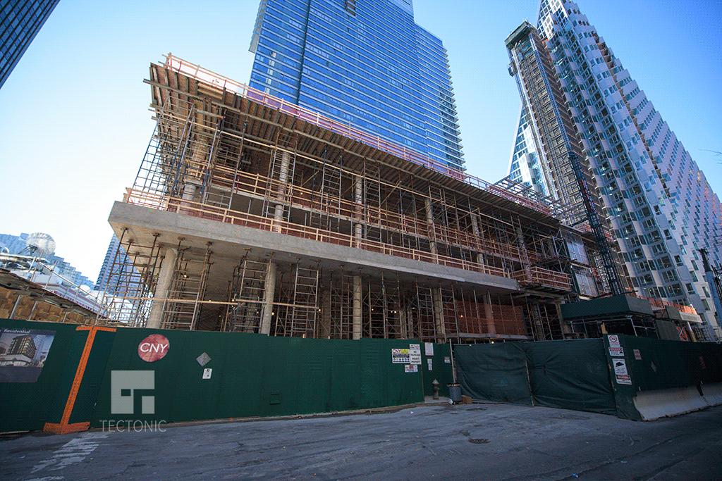 Looking westward from West 58th Street