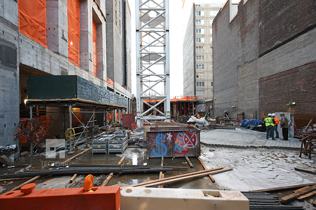 Courtyard area viewed from West 58th Street