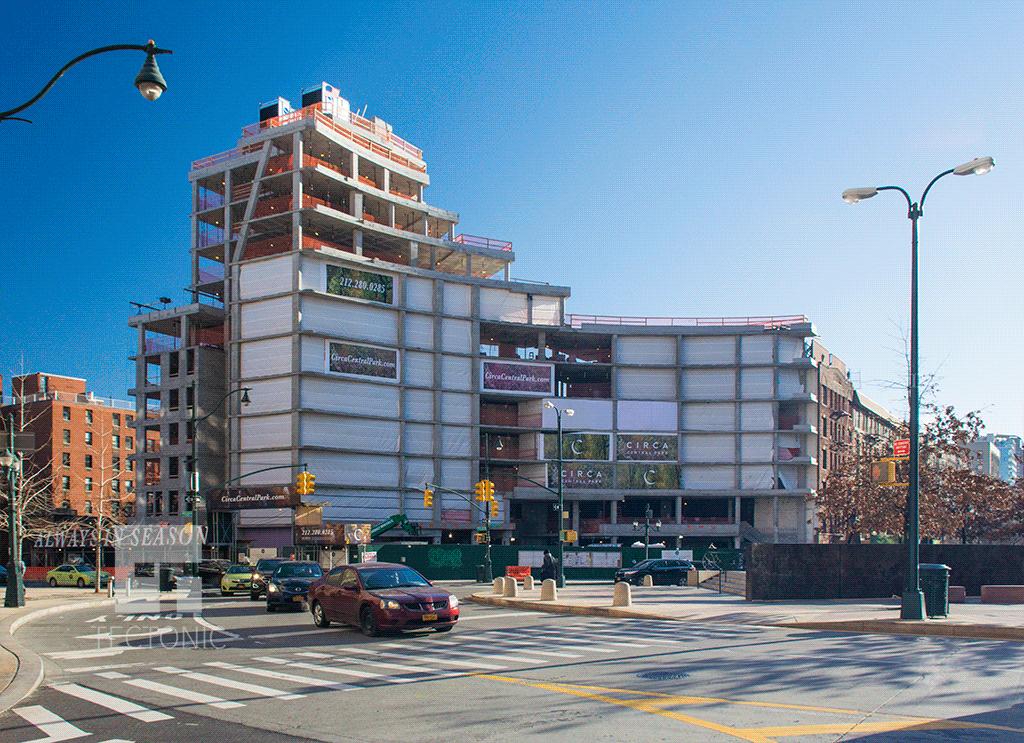 Looking eastward from West 110th Street
