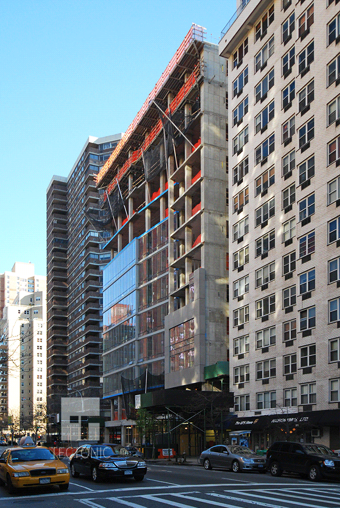 Looking northeast along 2nd Avenue