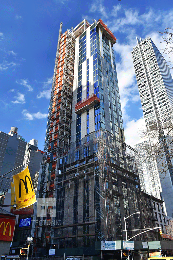 Viewed from the south along 6th Avenue