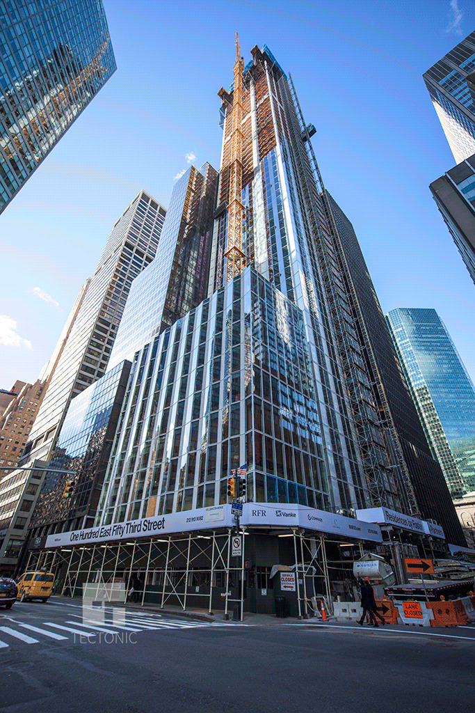 Looking up from East 53rd Street and Lexington Avenue