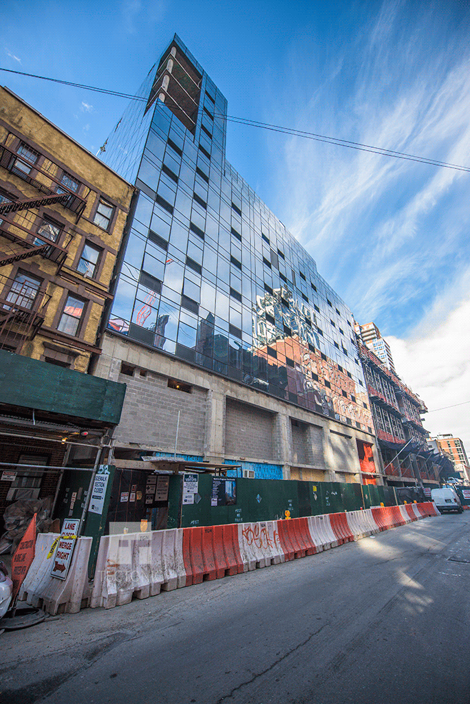 West 29th Street section of the three building project
