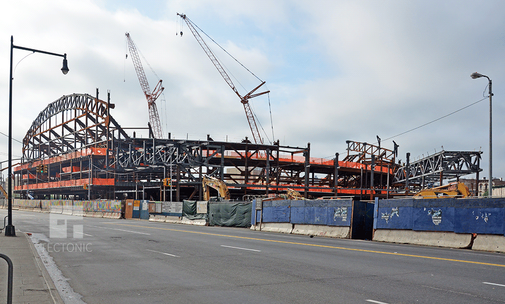 Viewed from the northwest along Atlantic Avenue
