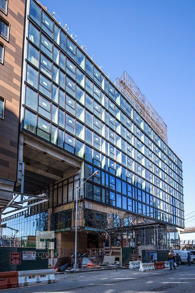 1 Hotel section viewed along Furman Street