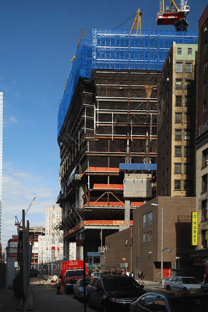 Looking northward along Greenwich Street