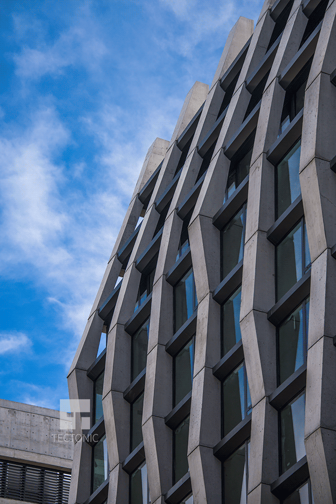 Upper northern facade