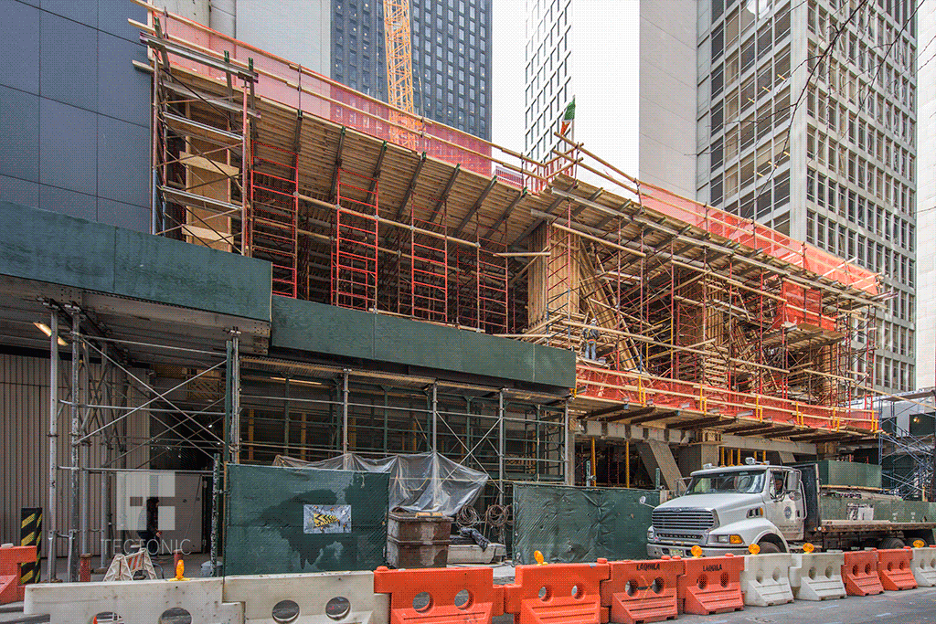 Viewed from West 54th Street