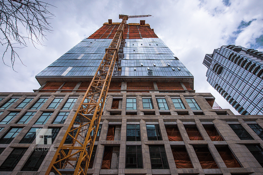 Looking up from West 59th Street