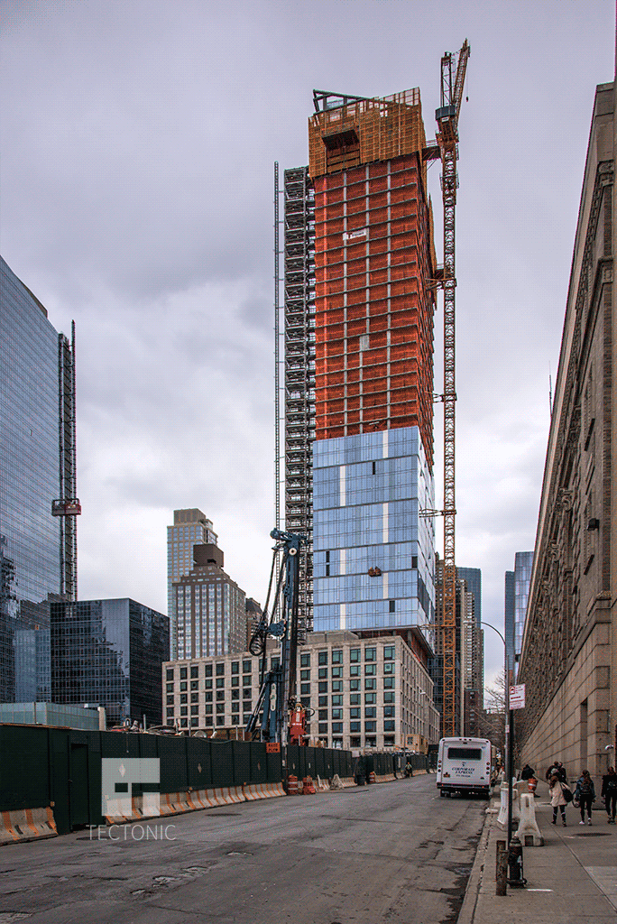 Viewed from the west along West 59th Street