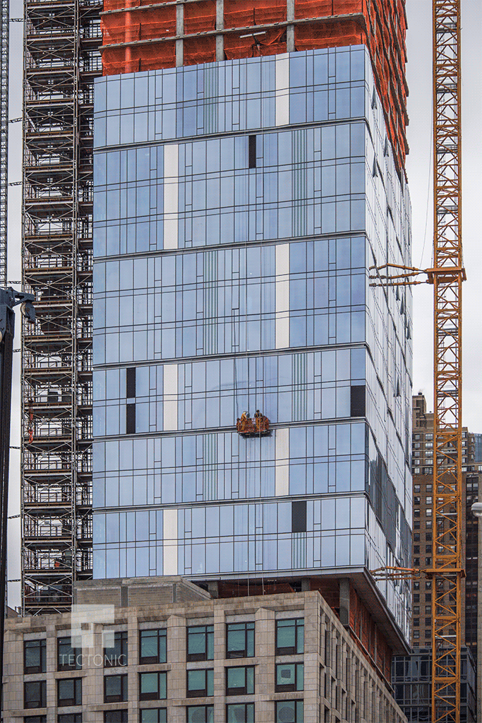 Facade installation viewed from the west