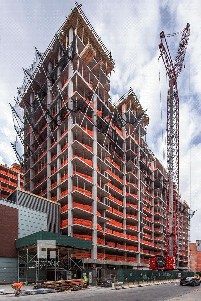 View westward along West 53rd Street