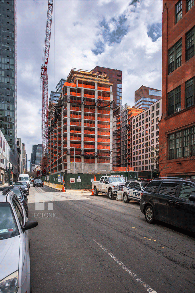 Viewed from West 53rd Street and 10th Avenue