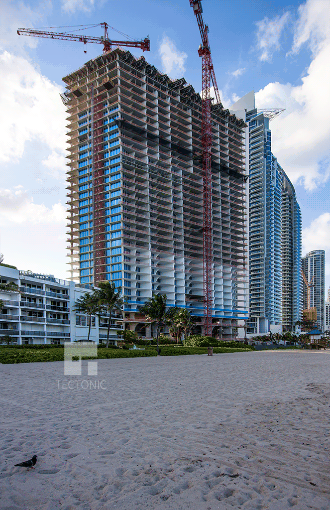 Viewed from the southeast along Sunny Isles Beach