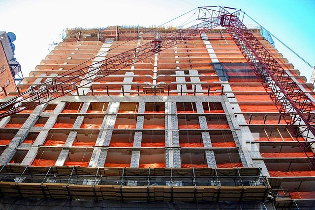 #tbt Emerald Green at 320 West 38th Street under construction in October 2008.  #nycarchitecture #nycbuildings #archi_features #architecturephotography #icapture_nyc #glenwoodmanagement #emeraldgreennyc #newyork #construction