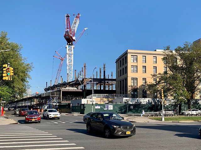 Coney Island Hospital expansion.  #nycbuildings #construction #turnerconstruction #archi_features #realestatedevelopment #realestate #coneyislandhospital #newyork #local40ironworkers #coneyisland #hospital #resilientconstruction