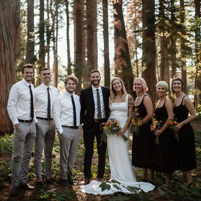 We can't stop thinking about Saturday. We're so honored to have these people in our lives and couldn't have imagined a better ceremony and celebration. Such a huge thank you to everyone involved! It was indeed a very special day. 📷 @lunamunn #marmeshed #tahoewedding #diywedding