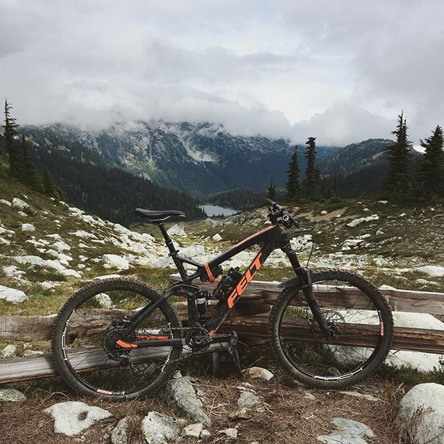 Had one of the coolest and most fun rides ever this morning. After a day in the park yesterday I was stoked to get out and do some climbing on the trails around Whistler. Still love trail riding. There's just something about doing a big ride for the first time—not quite sure what to expect, new terrain, new sites—that really takes me back to why I got into mountain biking in the first place; the sense of adventure and freedom. #mtb #feltbicycles #lordofthesquirrels #pedalpower
