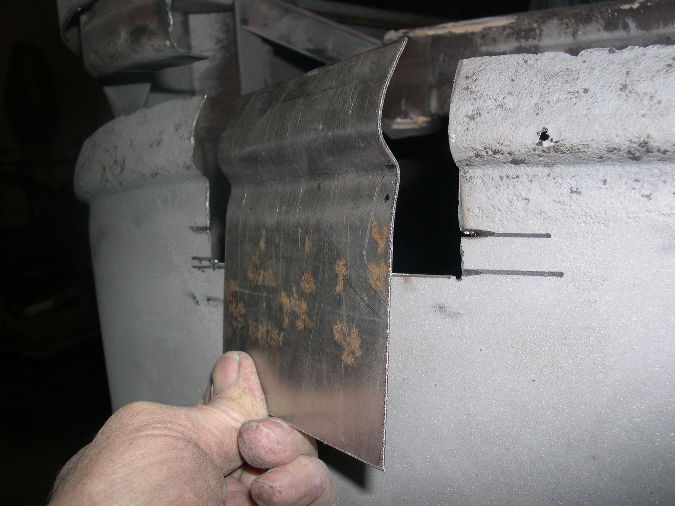 Patch panels for inner portion of beltline reveal were formed.