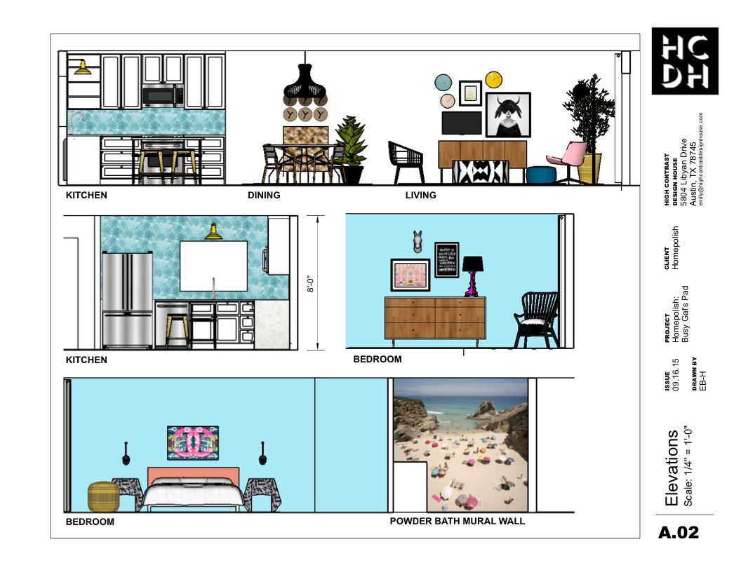 Busy Gal's Pad for Homepolish - Elevations