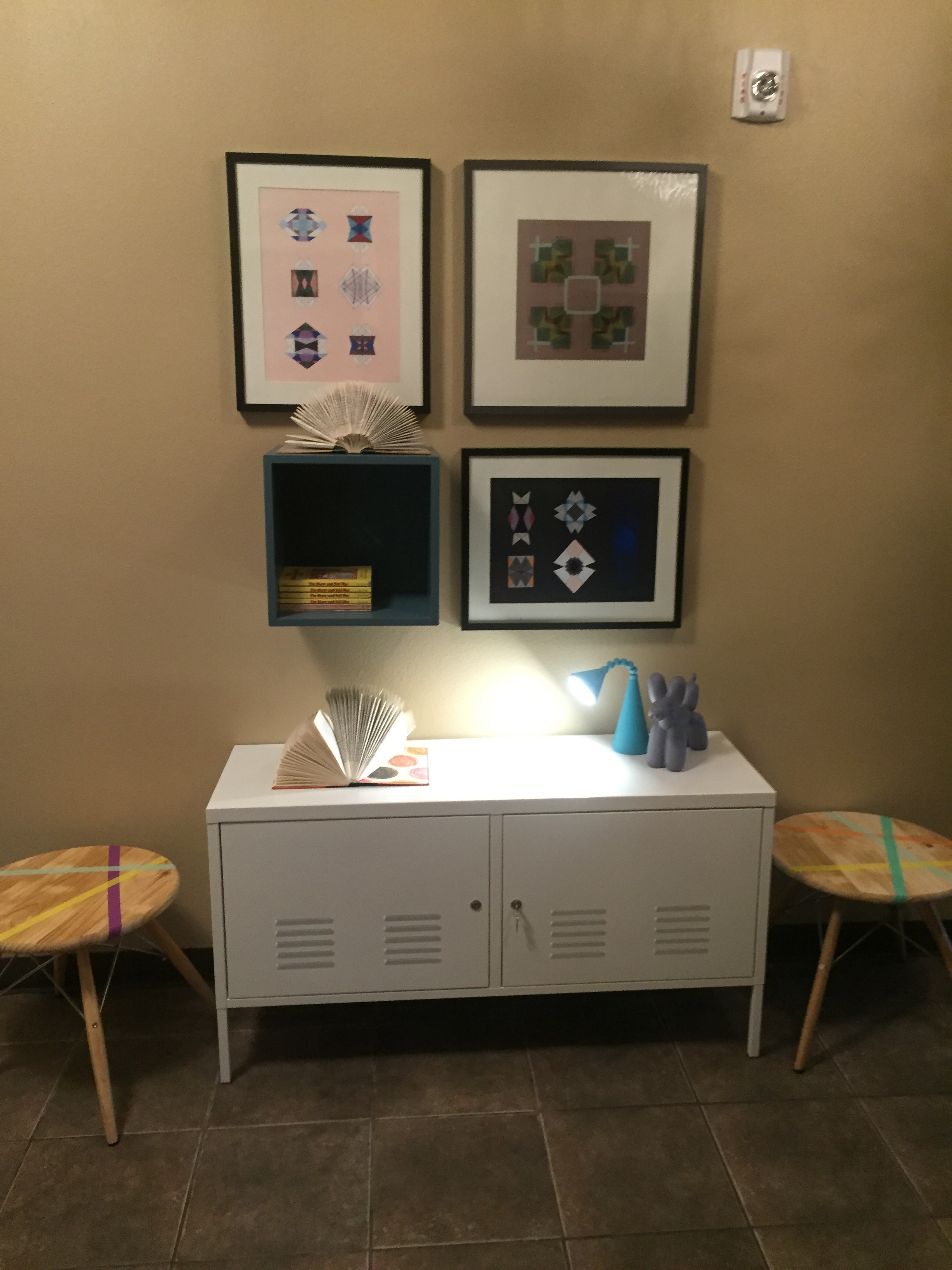 A nice little place to store necessities and display some art
