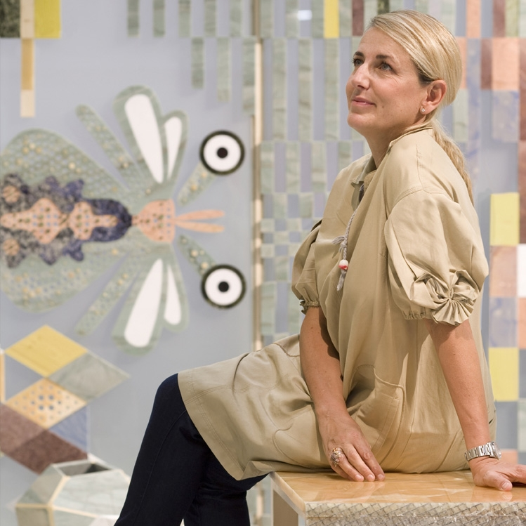 I couldn't have a list of ladies that I am in awe of without including my personal heroine, the queen of design,   Patricia Urquiola  . She has done more as a woman in the men's world of architecture than no other, and no one plays with pattern like her.