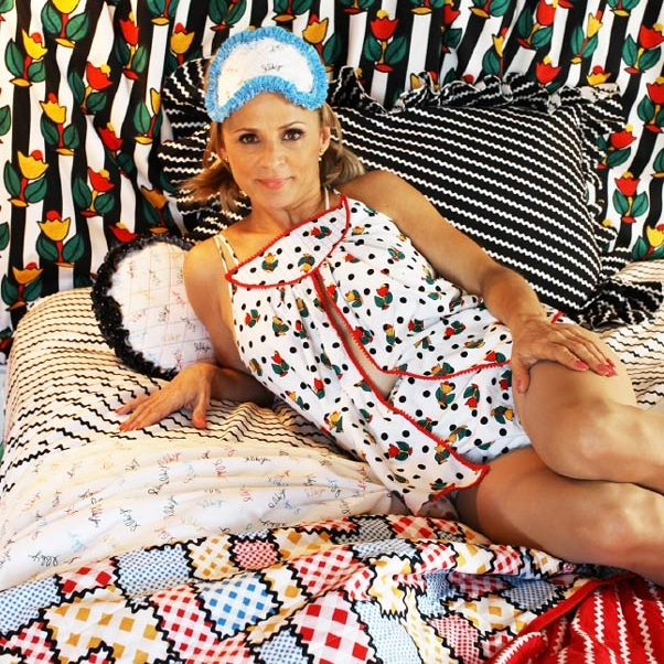 """Oh   Amy Sedaris  ...how we love you so.  Strangers with Candy  was so bizarre and funny, and then she went out and wrote some equally funny and adorable """"how to"""" craft books. Now she's designed a line of fabric. Renaissance woman, indeed."""